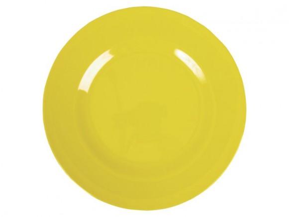Grosser RICE Teller in gelb