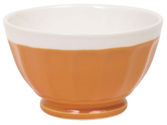 Große RICE Milchkaffeeschüssel in orange