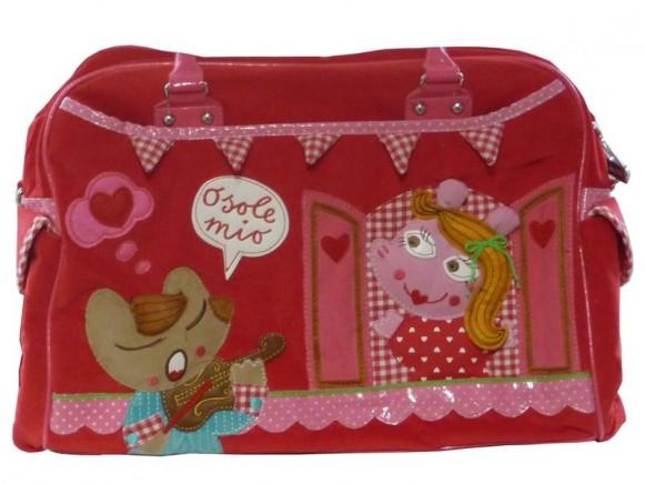 Rote Wickeltasche für Mädchen von Room Seven