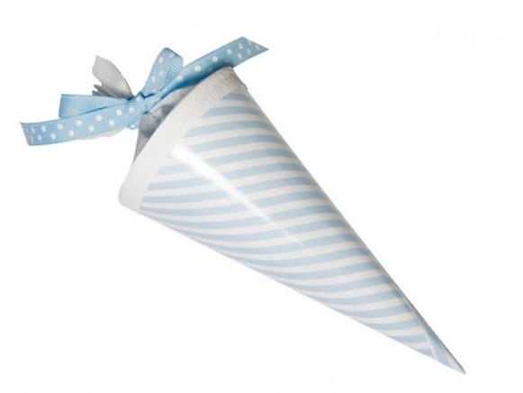 Kleine Schultüte Blaue Streifen von krima & isa