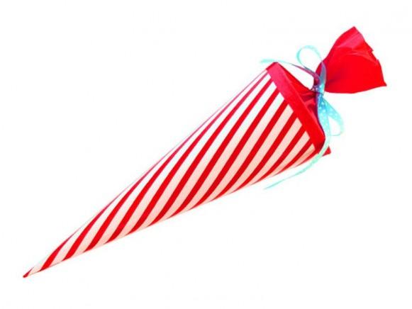 Mittelgroße Schultüte Rote Streifen von krima & isa