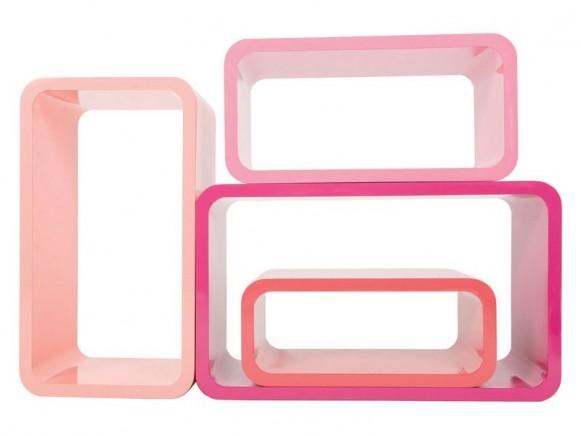 Ovale Regal-Boxen in Koralletönen von Sebra