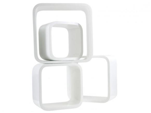 Quadratische Sebra Regal Boxen in weiss