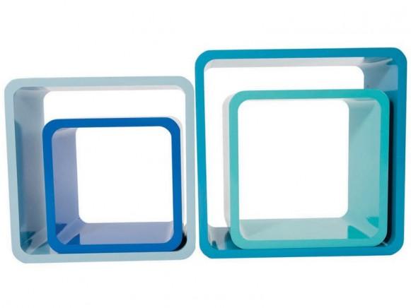 Quadratische Regal-Boxen in Türkistönen von Sebra