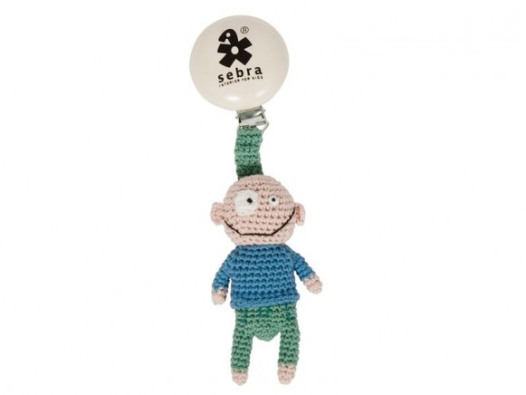Anhänger mit kleiner Häkel-Puppe Silly Boy von Sebra