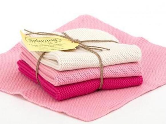 Wischlappen in creme/rosa/pink von Solwang