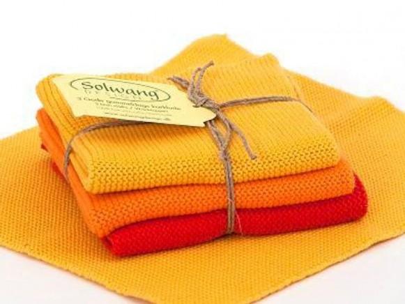 Wischlappen in gelb/orange/rot von Solwang