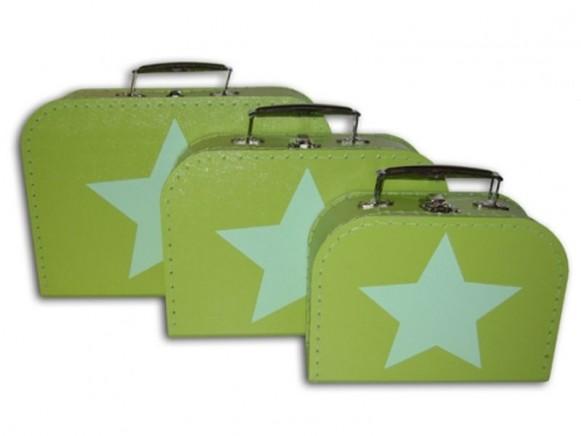 Kinderkoffer in grün mit Stern von TOYS & Company