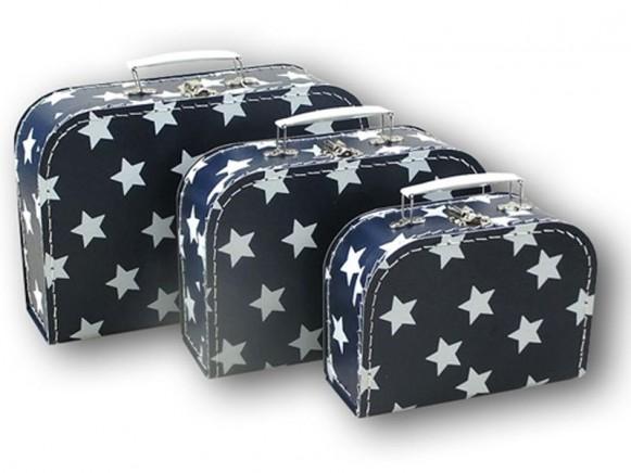 Kinderkoffer in dunkelblau mit Sternchen von TOYS & Company