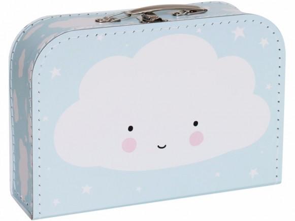 A Little Lovely Company Koffer Wolken blau