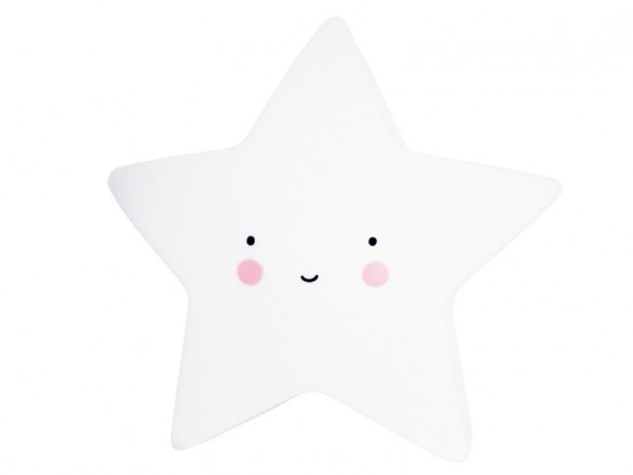 A Little Lovely Company Nachtlicht Stern weiss