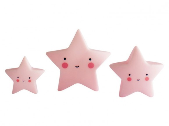 A Little Lovely Company Minis Sterne pink