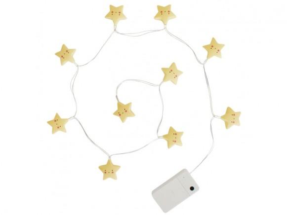 A Little Lovely Company LED Lichterkette Sterne gelb