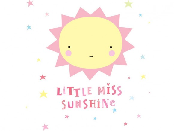 A Little Lovely Company Wandsticker Miss Sunshine