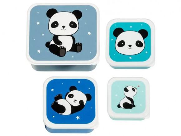 A Little Lovely Company Lunchbox Set PANDA