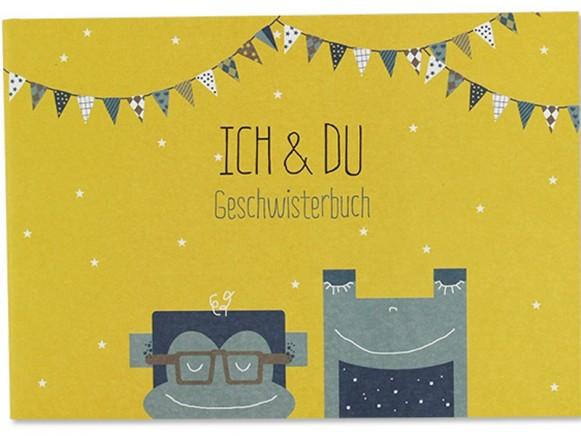 Ava & Yves Geschwister Erinnerungsbuch ICH & DU