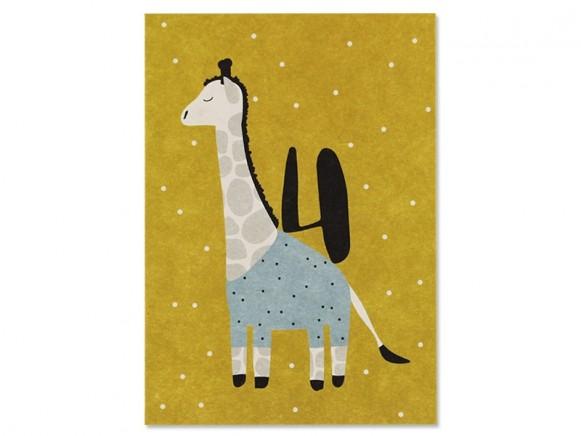 Ava & Yves Postkarte 4. Geburtstag