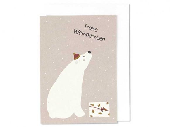 "Ava & Yves Grußkarte EISBÄR ""Frohe Weihnachten"""