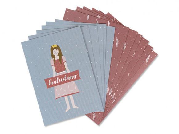 Ava & Yves Einladungskarten Set PRINZESSIN