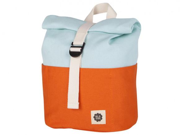 Blafre Rucksack ROLLTOP orange/hellblau 1-4 Jahre
