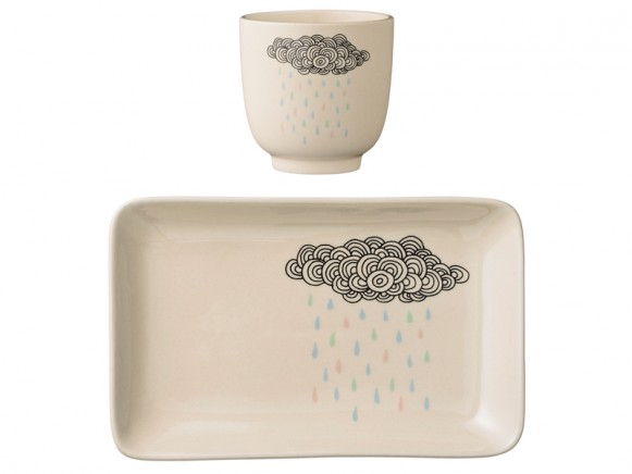 Bloomingville Geschirr-Set Rain Cloud Keramik