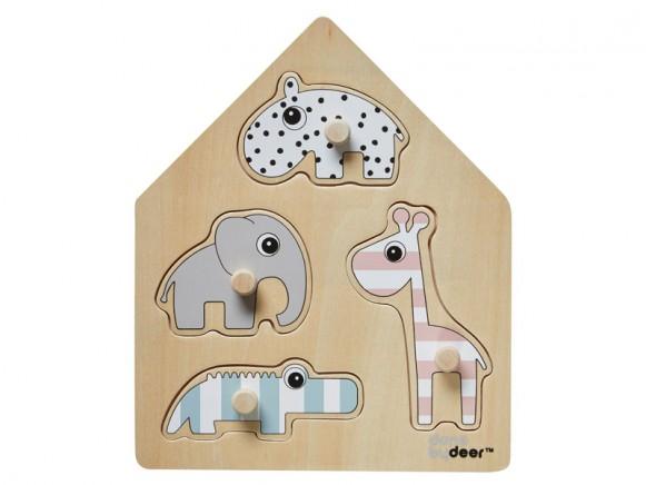 Done by Deer Puzzle Steckpuzzle Deer Friends