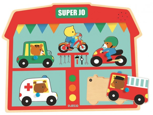 Djeco Holz-Puzzle mit Sound - Super Jo