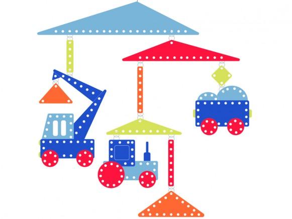 Djeco Papier Mobile Baustelle