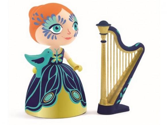 Djeco Arty Toys Prinzessin Elisa mit Harfe