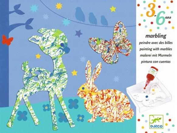 Djeco 3-6 Design Malen mit Murmeln