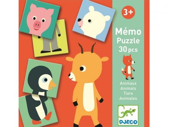 Djeco Memory-Puzzle TIERE