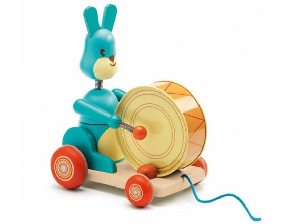 Djeco Nachziehtier Hase Bunny boum