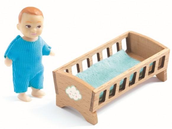 Djeco Puppenhaus Baby Sasha & Babybett