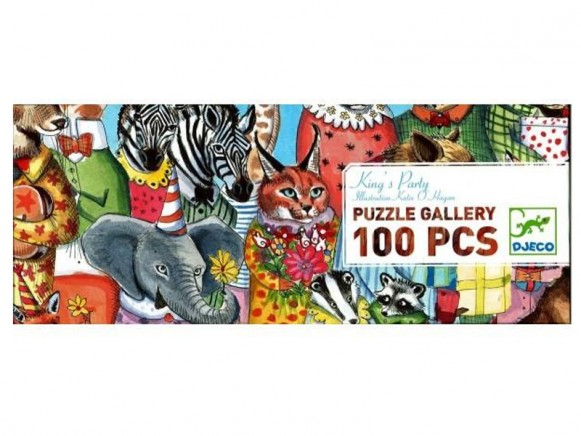 Djeco Puzzle Galerie King's Party (100 Teile)