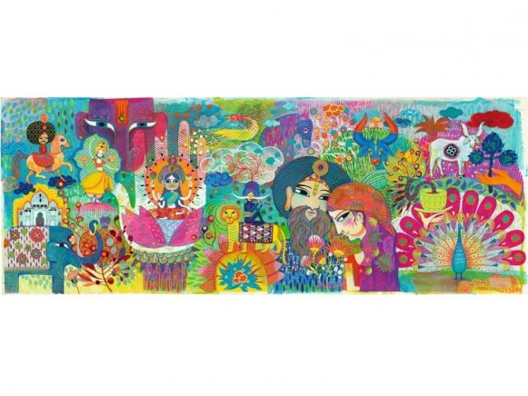 Djeco Puzzle Galerie MAGIC INDIA (1000 Teile)
