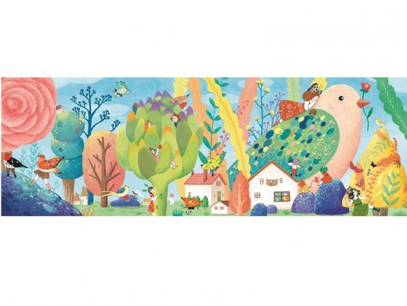 Djeco Puzzle Galerie MISS BIRDY (350 Teile)