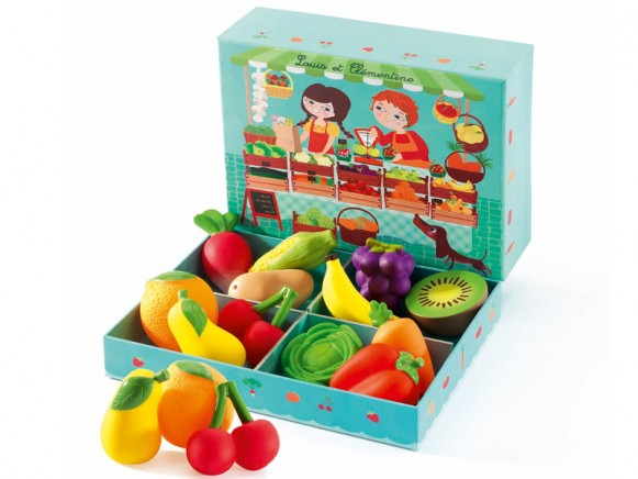 Djeco Rollenspiel Louis et Clementine Marktstand