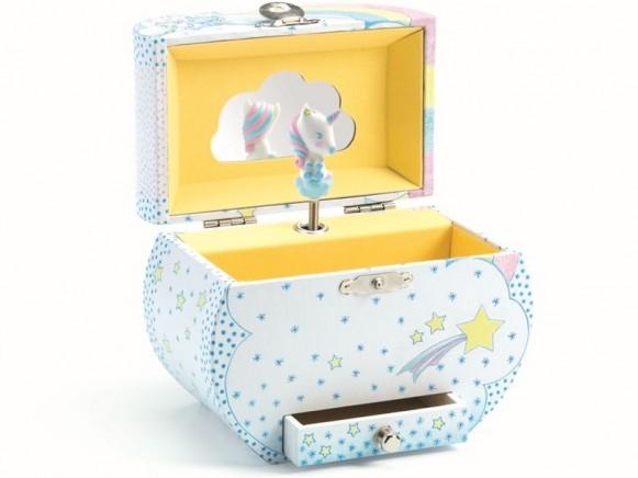 Djeco Spieluhr mit Schmuckkästchen EINHORN TRAUM