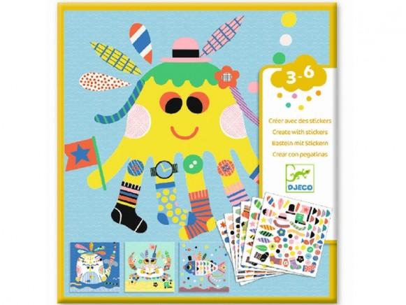 Djeco Sticker Kunst MEERESTIERE