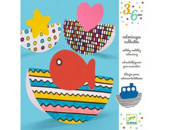 Djeco 3-6 Design: Schaukelfiguren zum Ausmalen