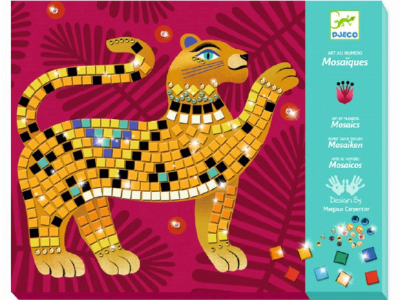 Djeco Mosaik Kunst nach Zahlen DSCHUNGEL