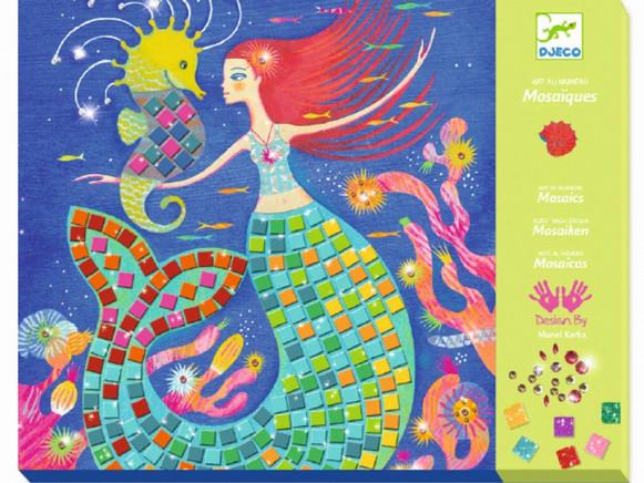 Djeco Mosaik Kunst nach Zahlen MEERJUNGFRAUEN
