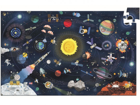 Djeco Puzzle WELTRAUM (200 Teile)