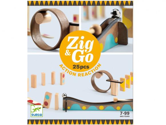 Djeco Domino Rennstrecke Zig & Go 25 Teile