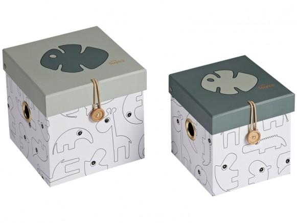 Done by Deer 2er-Set Aufbewahrungsboxen TINY TROPICS klein