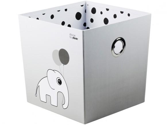 Done by Deer Stapelbox Elefant Punkte grau