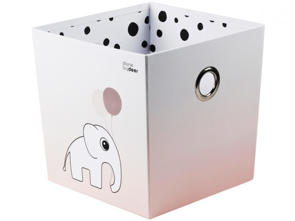 Done by Deer Stapelbox Elefant Punkte rosa