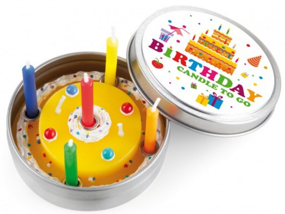 donkey products Happy Birthday candle to go