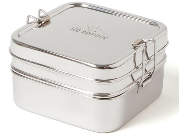 ECO Brotbox Edelstahl CUBE BOX XL