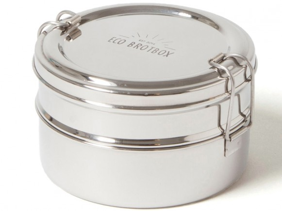ECO Brotbox Edelstahl TIFFIN DOUBLE